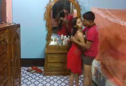 Desi hot baby romance with her lover