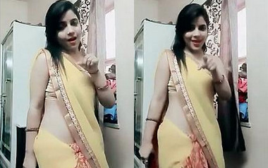 Desi Bhabi Saree ,Belly ,Hot dance