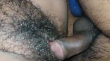 Desi wife hairy pussy rubbing and fucking by hubby part 2