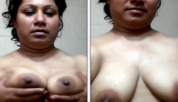 Indian Fatty Sharmin girl boob tease