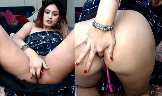 Smoking hot Indian girl 'Fingering ass' & 'Saree strip tease' Live on cam part 1