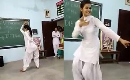School Girl Hot Dance, Mind Blowing Moves in Classroom
