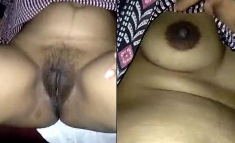 Desi bhabhi boobs and pussy captured by hubby take her nighty