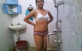 Indian girl Nikita Bathing