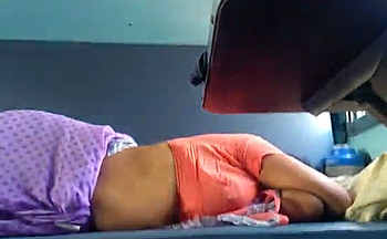 Desi Hot Aunty Yummy Sleeping on Train Captured