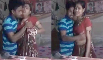 Indian young house wife having fun with her husband