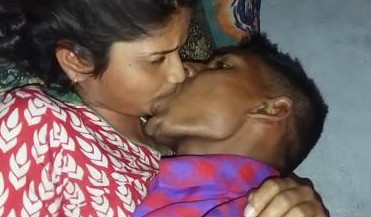 Hot indian lover kissing and romance