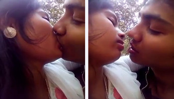Desi Lovers Smooching Passionately