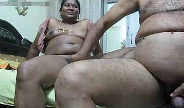 Saroja aunty gets ready for fuck by her employer