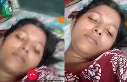 horny couple musterbating during video call