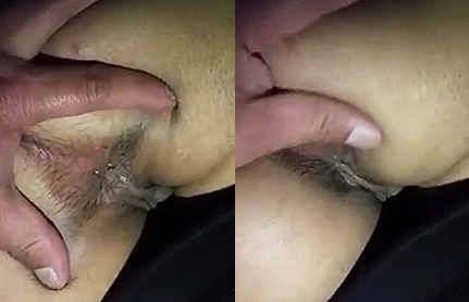 beautiful indian wife asshole fingering by hubby