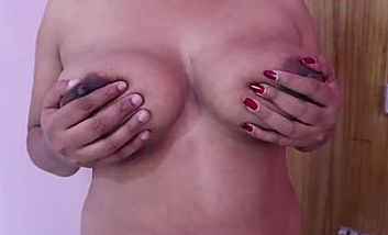 Kerala aunty big boobs playing by hubby