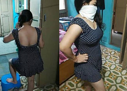 Bhabhi sexy figure in hot dress