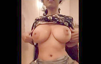 Impatient desi boobs jumped out of top