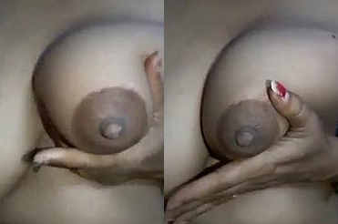 Desi Bhabhi showing pumping huge boobs