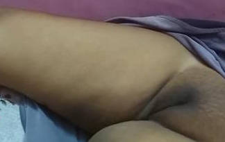 Sleeping desi wife beautiful Inflated pussy caught by hubby again