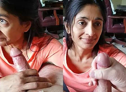 NRI wife sucking Dick and taking Cum in her mouth
