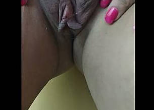 Indian wife showing her clean pussy on cam