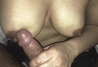 Indian Wife Rubbing Cock On Her Titties