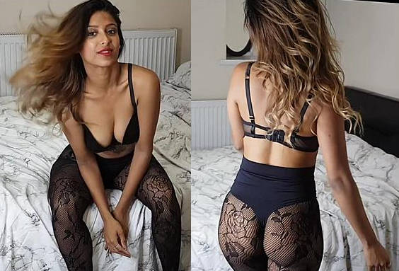 Hot Desi Girl showing her Assets in Lingerie
