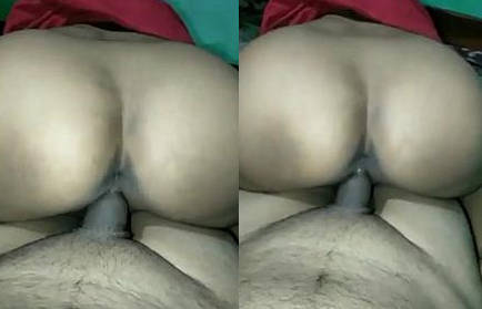 Desi Sexy Sitting on Hubby's Cock Like Reverse CowGirl and Fuck