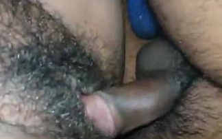 Desi wife hairy pussy rubbing and fucking by hubby