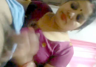 aunt in blouse shaking lover dick