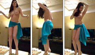 Paki Babe Private Topless dance in a Party