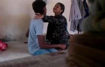 indian desi bhabhi with her young brother in law at his room