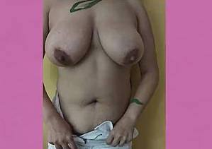 desi wife removing dress showing big boob