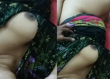 desi couple hot blowjob and boob press