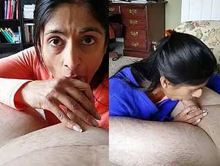 Desi wife sucking Dick and taking Cum in her mouth