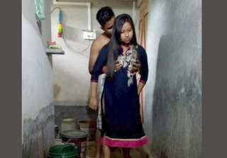 Romanc with best friend hot wife in toilet
