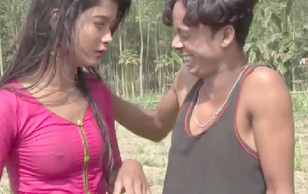 Desi cute teen show her small boobs on Bengali film