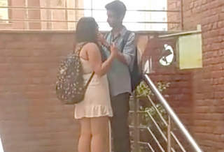 Delhi College couple outdoor romance