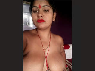 Big Melons Indian wife Nude Selfies For lover Part 2