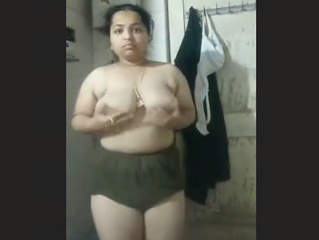 Chubby Girl Ritika Stripping for Brother in law