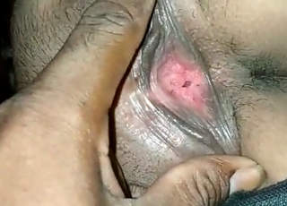 Pussy show by husband