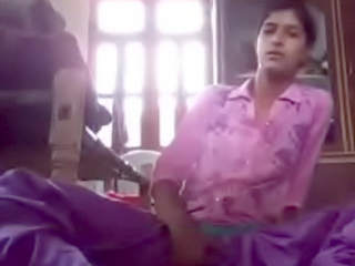 Indian young girl mastrubating in home