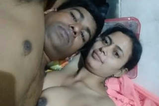 Bengali Bhabhi with her Husband Playing Boob