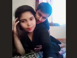 Beautiful Horny Desi Girl Smooching With Bf