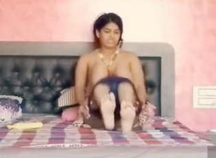Bhabhi first massage her body and then fucking