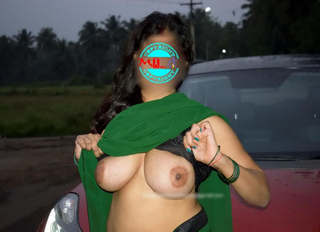 Desi bhabhi monica outdoor fun with husband photos+video