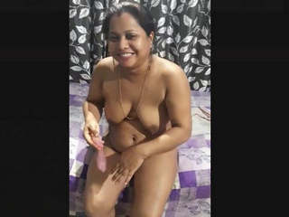 Indian Wife Play with Condom